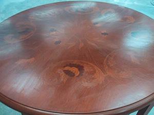 象嵌入り丸テーブル天板
